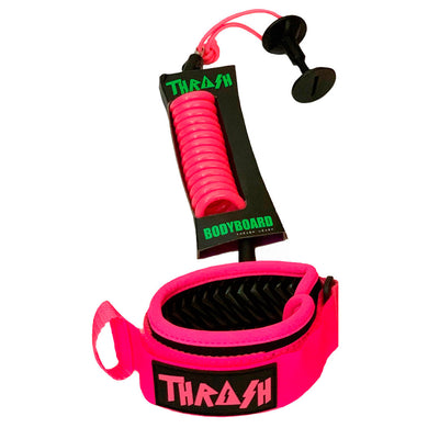 Thrash pink bodyboard leash