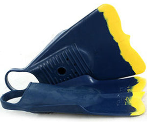 DaFin bodysurfing swim fins Navy yellow
