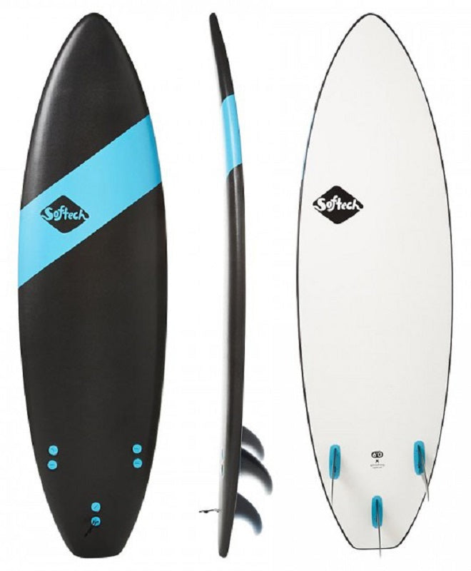Softech TC Handshaped 6' soft surfboard Black