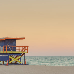 35th Street Miami Lifeguard Stand at Sunset
