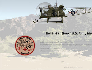 MASH 4077 BELL H-13 (BELL 47) SIOUX US ARMY MEDEVAC