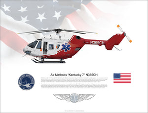 "Air Methods BK-117 ""Kentucky 7"" N365CH"