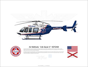 "Air Methods  ""Life Saver 3""  N372AM - Bell 407GX"