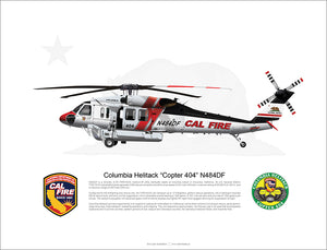 Cal Fire FIREHAWK Columbia Copter 404 N484DF - Static