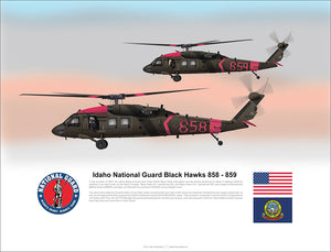 Idaho National Guard Black Hawks 858 859 California Fires
