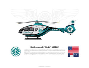 "MedCenter AIR EC135 ""Med 4"" N162AE"