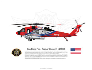 San Diego Fire Rescue FIREHAWK Copter 3 N283SD - Static