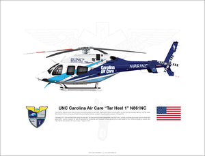 "UNC Carolina Air Care Bell 429 ""Tar Heel 1"" N861NC"