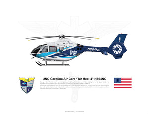 "UNC Carolina Air Care EC135 ""Tar Heel 4"" N864NC"