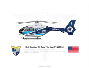 "UNC Carolina Air Care EC135 ""Tar Heel 5"" N865NC"