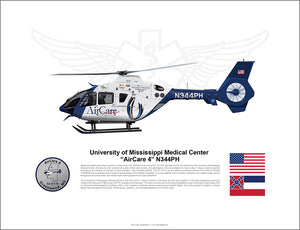 AIRCARE 4 N344PH AIRBUS EC135 FLYING STATE FLAG