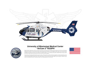 U of Mississippi Airbus EC135 AirCare 3 N325PH STATIC
