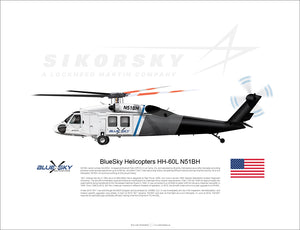 BlueSky Helicopters Black Hawk HH-60L N51BH