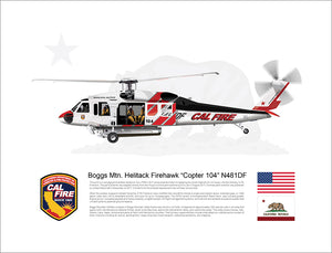 CAL FIRE Boggs Mountain Helitack Sikorsky Firehawk 'Copter 104' N481DF - Concept Paint Scheme