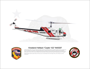 CAL FIRE Kneeland Helitack Bell UH-1H Huey 'Copter 102' N493DF - FLYING