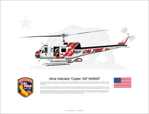 CAL FIRE Alma Helitack Bell UH 1H Huey 'Copter 106' N495DF