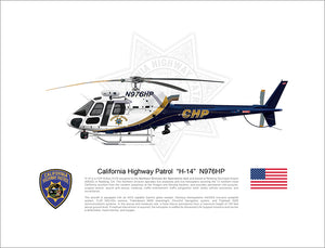 "California Highway Patrol Airbus H125 ""H-14"" N976HP"