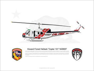 CAL FIRE Howard Forest Helitack Bell UH-1H Huey 'Copter 101' N499DF