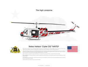 "CAL FIRE Bieber Helitack ""Copter 202"" N497DF with Hoist 2018 Paint Scheme [Crew Customized]"