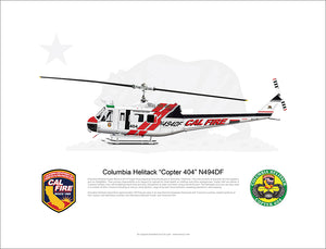 CAL FIRE Columbia Helitack Bell UH_1H Huey 'Copter 404' N494DF