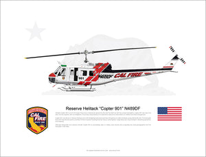 CAL FIRE Helitack Bell UH-1H Huey 'Copter 901' N489DF