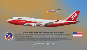 Global SuperTanker 944 Boeing 747 N744ST - LIMITED EDITION