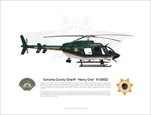Sonoma County Sheriff Bell 407 N108SD 'Henry 1'