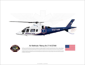 Air Methods 'Mercy Air 3' Agusta A109 N127AM