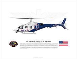 Air Methods 'Mercy Air 3' BELL 222UT N419MA