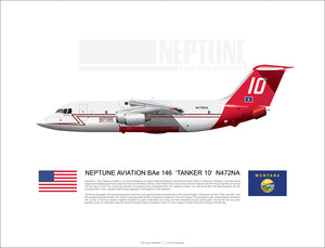 Neptune Aviation BAE 146 'Tanker 10' N472NA