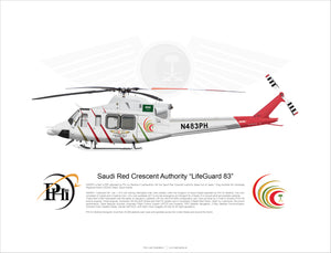 "PHI Bell 412 Saudi Red Crescent Authority ""LifeGuard 83"" N483PH"