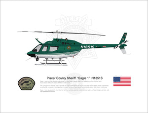 "Placer County Sheriff Bell OH-58 ""Eagle 1"" N1851S"