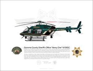 Sonoma County Sheriff Bell 407GXP N108SC 'Henry 1' STATIC