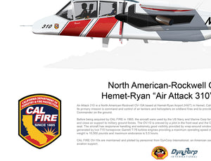 "CAL FIRE OV-10 Bronco Hemet-Ryan ""Air Attack 310"" N429DF"