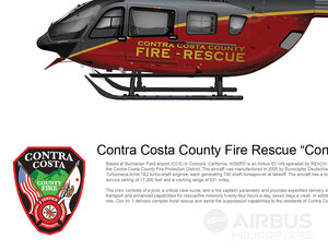 "CONTRA COSTA COUNTY FIRE RESCUE EC145 ""Con Air 1"" N390FD"