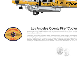 "Los Angeles County Fire FIREHAWK ""Copter 22"" N822LA"
