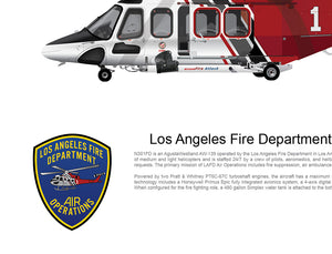 LOS ANGELES FIRE DEPARTMENT AW139 'FIRE 1' N301FD - Static