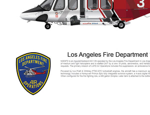 LOS ANGELES FIRE DEPARTMENT AW139 'FIRE 3' N303FD - Static