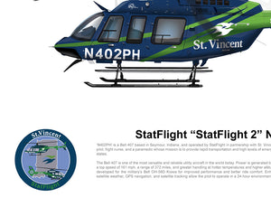 "StatFlight ""StatFlight 2"" N402PH Bell 407 - Dark paint scheme"