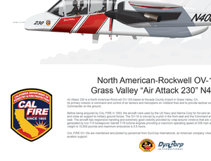 CAL FIRE OV-10 Bronco Grass Valley Air Attack 230 N408DF