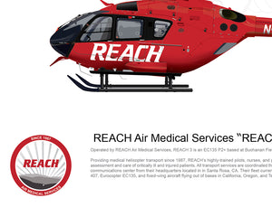 "REACH Air Medical Services Airbus EC135 ""REACH 3"" N31RX STATIC"