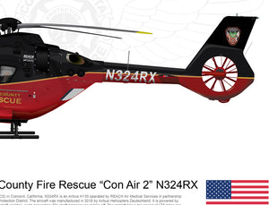 "CONTRA COSTA COUNTY FIRE RESCUE EC135 ""Con Air 2"" N324RX"