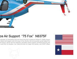 "Houston Police Air Support  ""75 Fox""  N8375F"