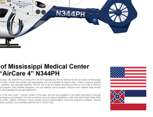 AIRCARE 4 N344PH AIRBUS EC135 STATIC STATE FLAG