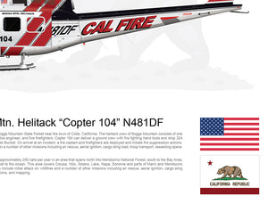 CAL FIRE Boggs Mountain Helitack Bell UH 1H Huey 'Copter 104' N481DF