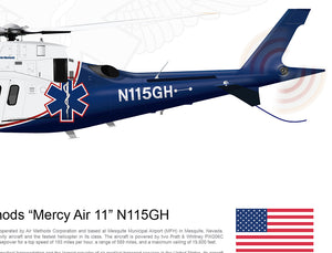 "Air Methods ""Mercy Air 11"" Agusta A109 N115GH"