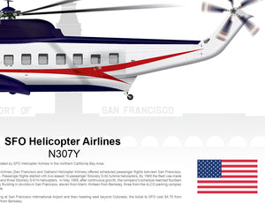 SFO Helicopter Airlines Sikorsky S-61 N307Y