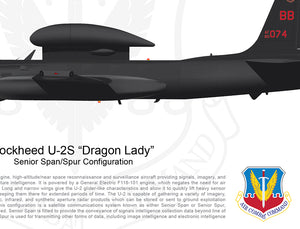"Lockheed U-2 ""Dragon Lady"" Senior Span/Spur Configuration"