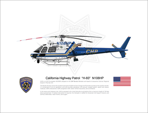"California Highway Patrol Airbus AS350 ""H-60"" N108HP"