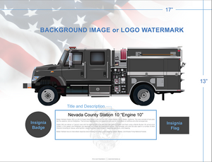 Custom Fire Engine Model 34 Type 3 Art Prints